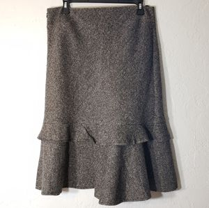 Gap Tweed Lined Flared Pencil Skirt, Size 6